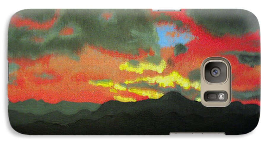 Sunset Galaxy S7 Case featuring the painting Buenas Noches by Marco Morales