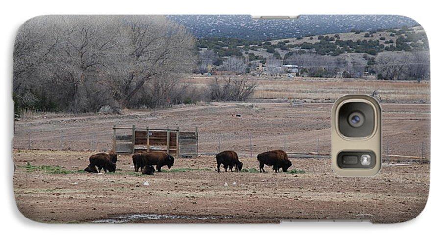 Buffalo Galaxy S7 Case featuring the photograph Buffalo New Mexico by Rob Hans