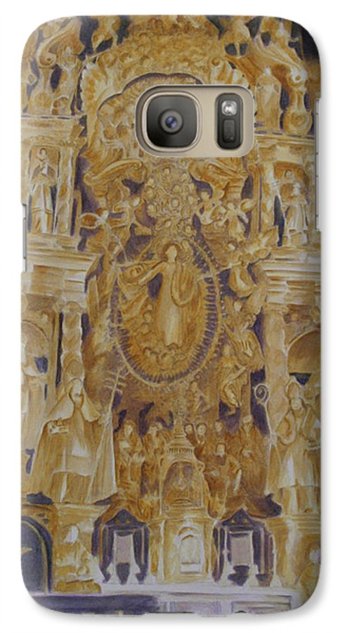 Saints Galaxy S7 Case featuring the painting Builders' Guild by Nik Helbig