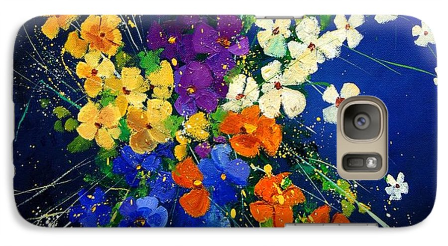Poppies Galaxy S7 Case featuring the print Bunch 0408 by Pol Ledent
