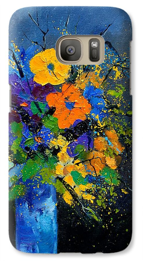 Poppies Galaxy S7 Case featuring the painting Bunch 1007 by Pol Ledent