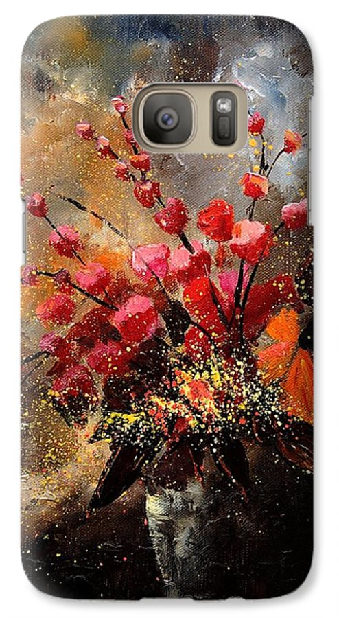 Poppies Galaxy S7 Case featuring the painting Bunch 1207 by Pol Ledent