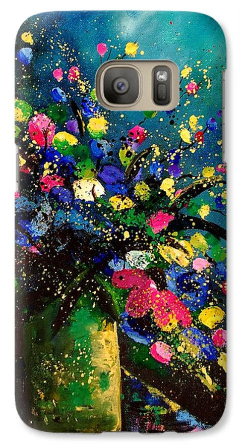 Poppies Galaxy S7 Case featuring the painting Bunch 45 by Pol Ledent