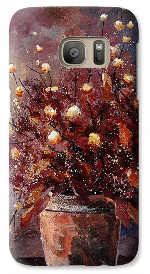 Poppies Galaxy S7 Case featuring the painting Bunch 56 by Pol Ledent