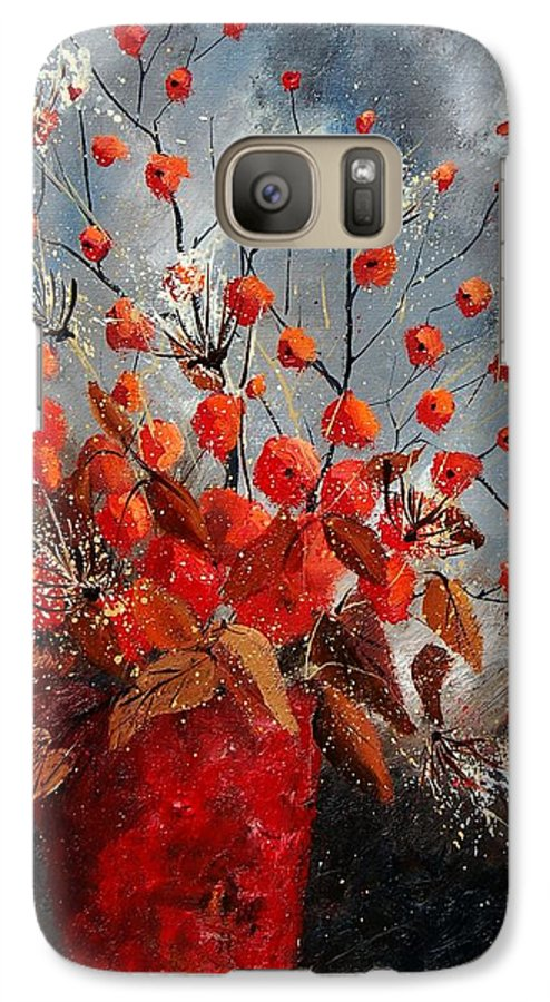 Flowers Galaxy S7 Case featuring the painting Bunch 560608 by Pol Ledent
