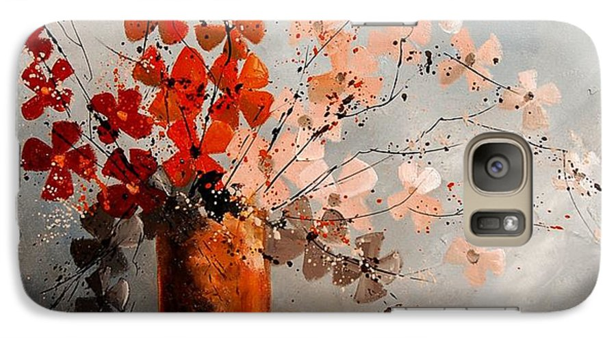 Flowers Galaxy S7 Case featuring the painting Bunch 670908 by Pol Ledent