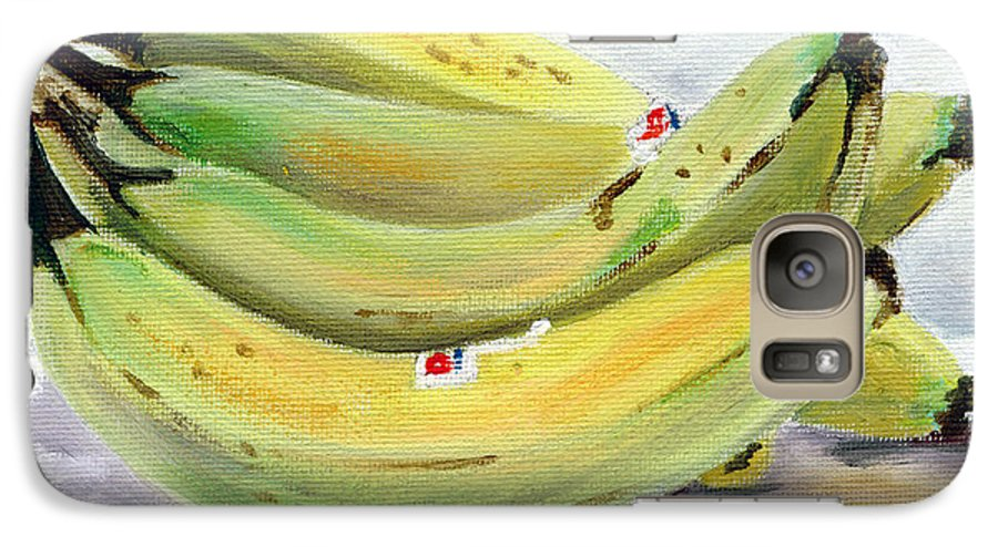 Still-life Galaxy S7 Case featuring the painting Bunch Of Bananas by Sarah Lynch