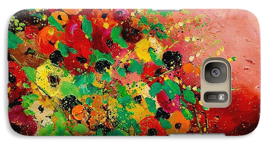Flowers Galaxy S7 Case featuring the painting Bunch Of Flowers 0507 by Pol Ledent