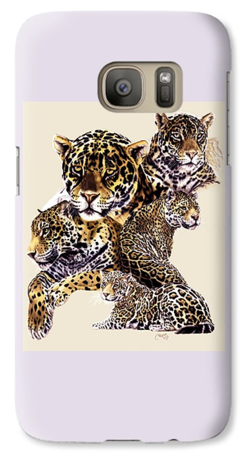 Jaguar Galaxy S7 Case featuring the drawing Burn by Barbara Keith