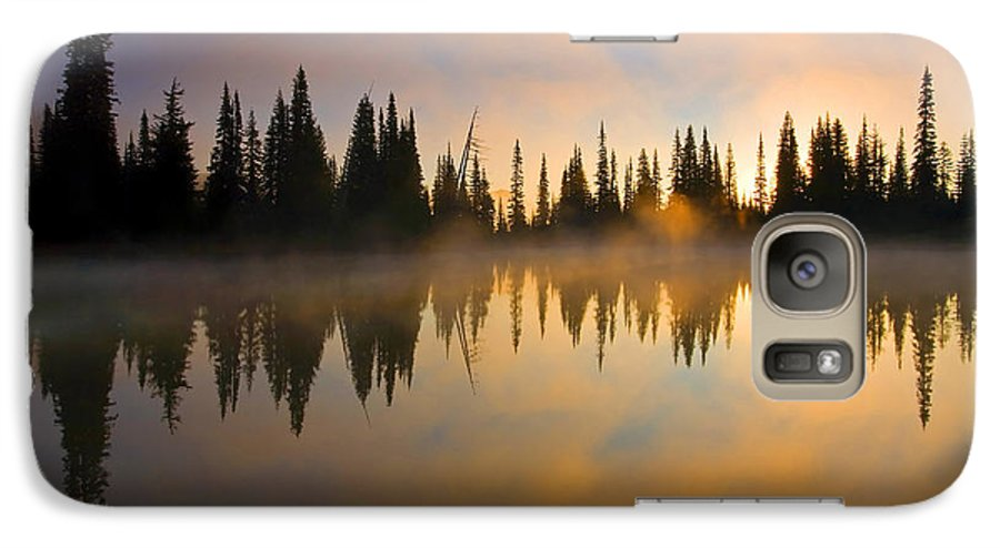 Lake Galaxy S7 Case featuring the photograph Burning Dawn by Mike Dawson