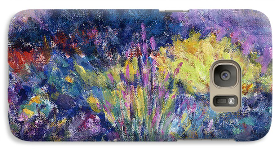 Impressionism Galaxy S7 Case featuring the painting Burst Of Color-last Night In Monets Gardens by Tara Moorman