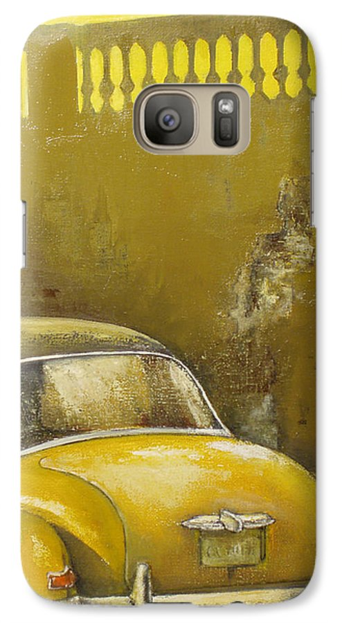 Havana Galaxy S7 Case featuring the painting Buscando La Sombra by Tomas Castano