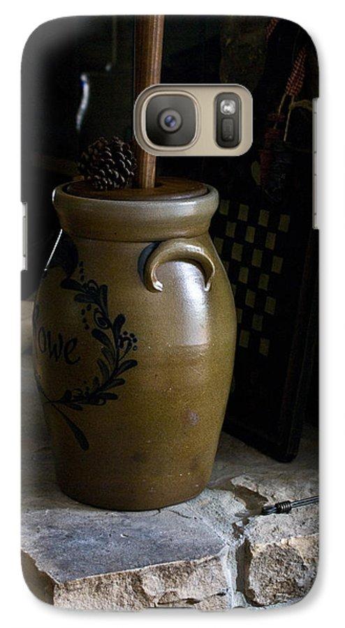 Butter Galaxy S7 Case featuring the photograph Butter Churn On Hearth Still Life by Douglas Barnett