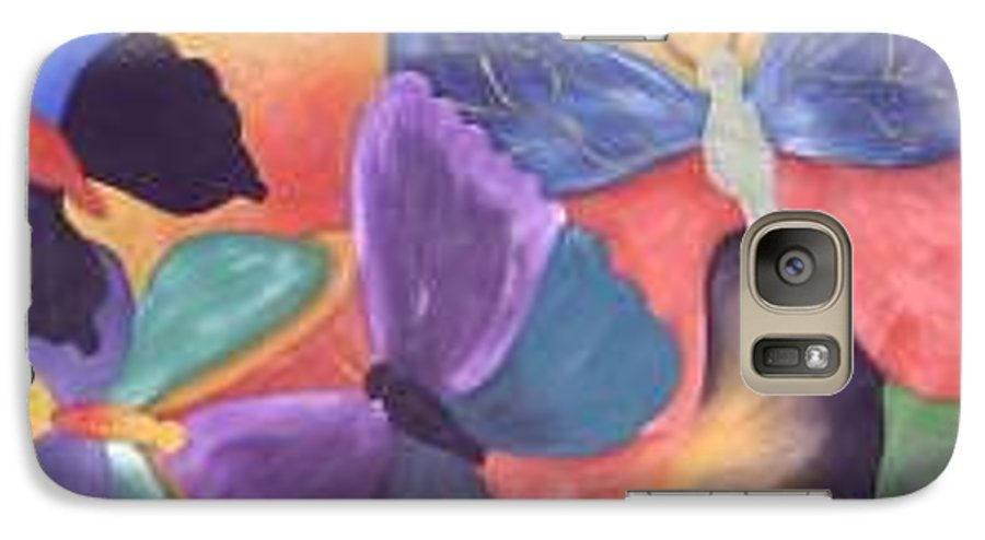 Butterfly Painting With Focus On Colors Galaxy S7 Case featuring the painting Butterfly Painting by M Brandl