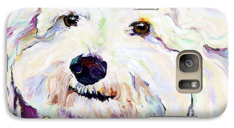 Bischon Galaxy S7 Case featuring the painting Buttons  by Pat Saunders-White