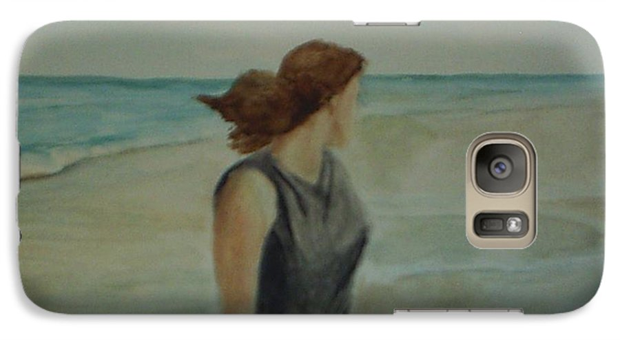 Ocean Galaxy S7 Case featuring the painting By The Sea by Sheila Mashaw