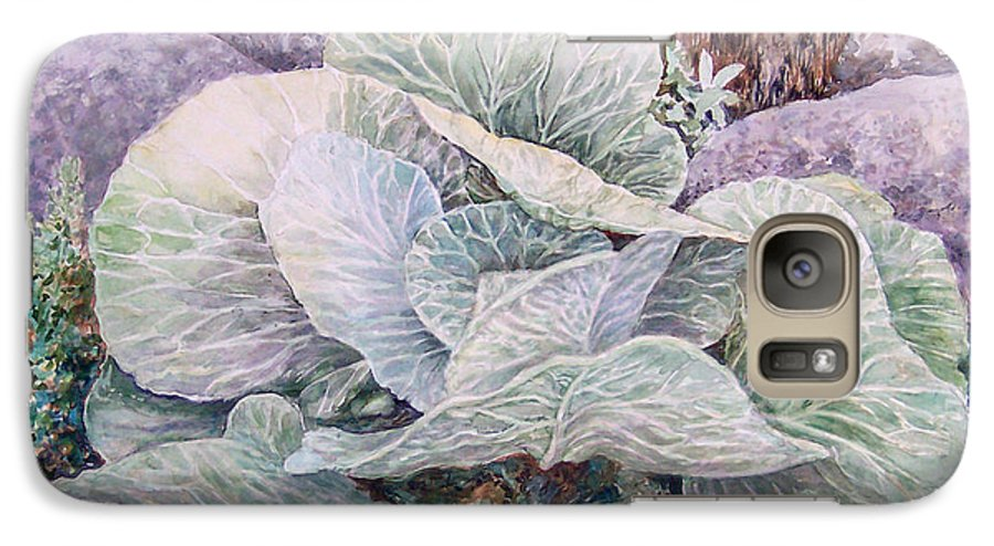 Leaves Galaxy S7 Case featuring the painting Cabbage Head by Valerie Meotti