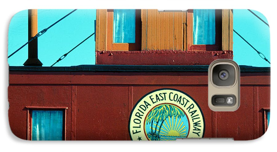 Florida Keys Train Railroad Galaxy S7 Case featuring the photograph Caboose by Carl Purcell