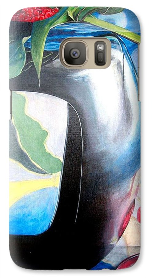 Nature-morte Galaxy S7 Case featuring the painting Cadre by Muriel Dolemieux