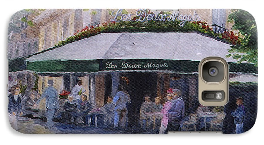 Cafe Magots Galaxy S7 Case featuring the painting Cafe Magots by Jay Johnson