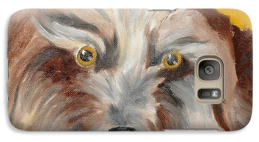Dog Galaxy S7 Case featuring the painting Cairn Terrier by Susan Kubes