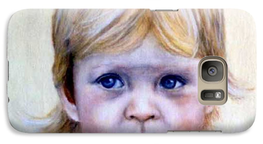 Galaxy S7 Case featuring the painting Caitlin by Anne Kushnick