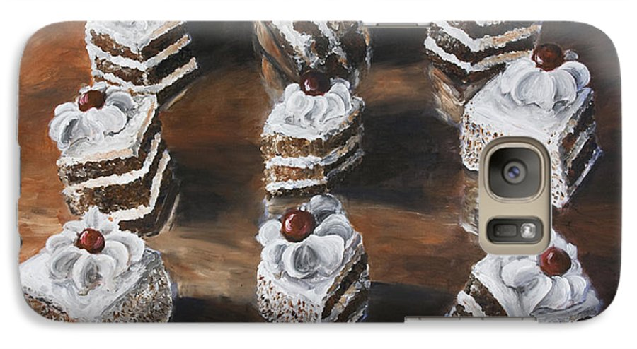 Cake Galaxy S7 Case featuring the painting Cake by Nik Helbig