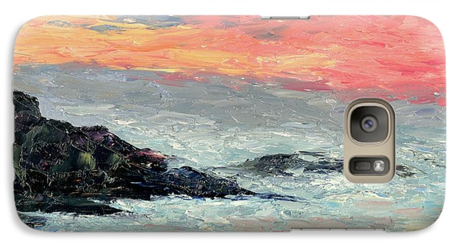 Seascape Galaxy S7 Case featuring the painting California Coast by Gail Kirtz