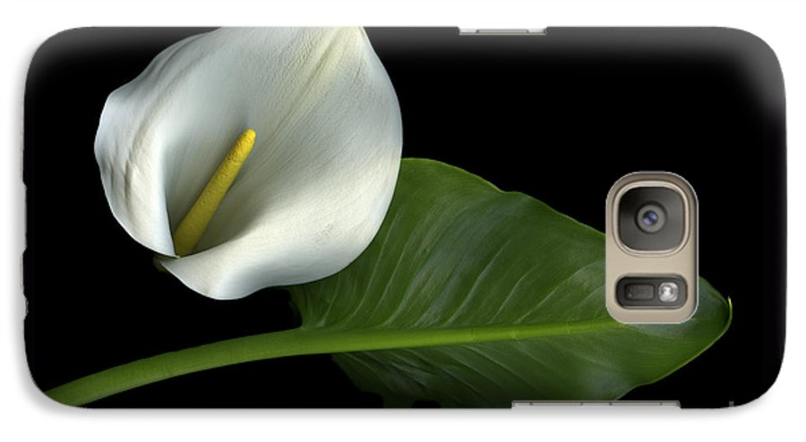 Scanography Galaxy S7 Case featuring the photograph Calla Lily by Christian Slanec