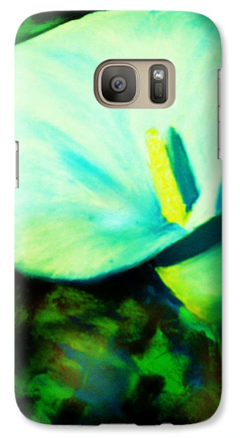 White Calla Lily Galaxy S7 Case featuring the painting Calla Lily by Melinda Etzold