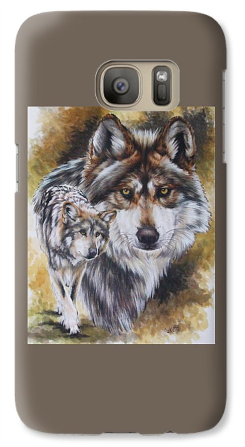 Wildlife Galaxy S7 Case featuring the mixed media Callidity by Barbara Keith