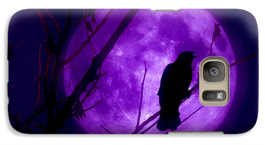 Moon Galaxy S7 Case featuring the photograph Calling Out To The Night by Kenneth Krolikowski