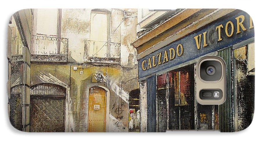 Calzados Galaxy S7 Case featuring the painting Calzados Victoria-leon by Tomas Castano