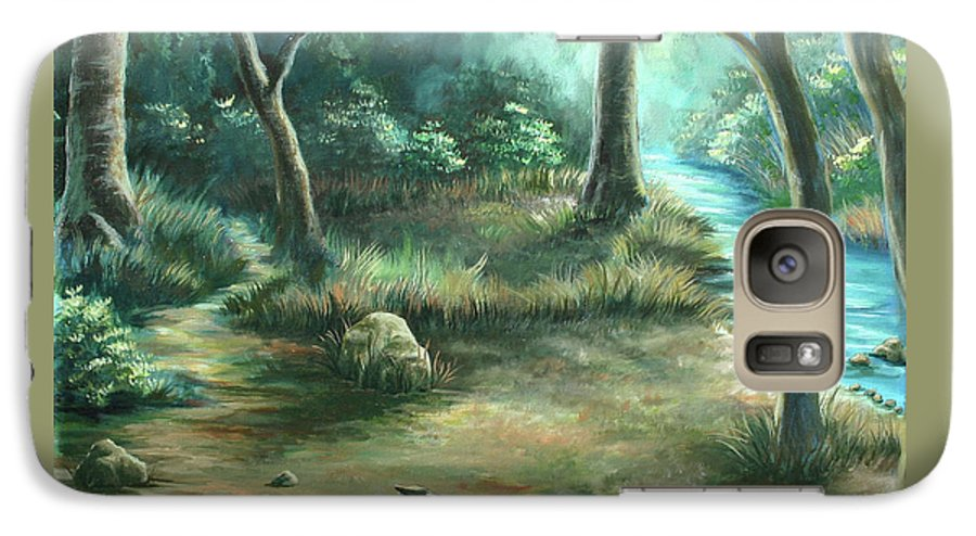 Landscape Galaxy S7 Case featuring the painting Camping At Figueroa Mountains by Jennifer McDuffie