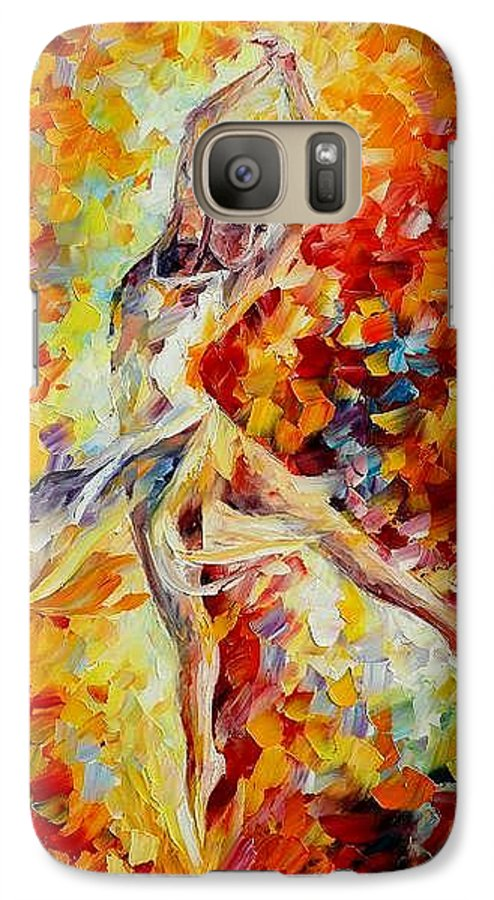 Danse Galaxy S7 Case featuring the painting Candle Fire by Leonid Afremov