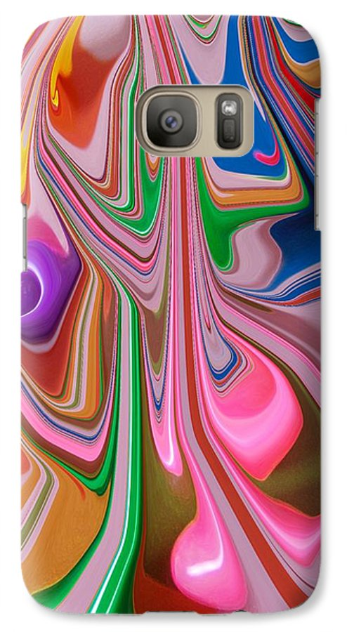 Abstract Galaxy S7 Case featuring the photograph Candy Melt by Florene Welebny