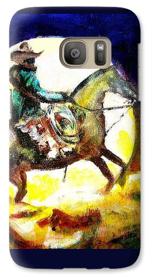 Canyon Moon Galaxy S7 Case featuring the painting Canyon Moon by Seth Weaver