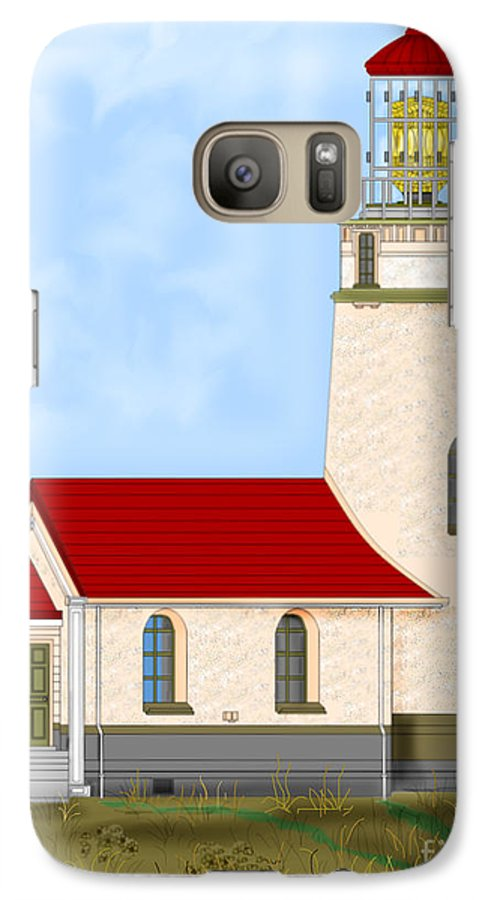 Lighthouse Galaxy S7 Case featuring the painting Cape Blanco Oregon by Anne Norskog