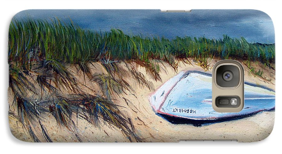 Boat Galaxy S7 Case featuring the painting Cape Cod Boat by Paul Walsh