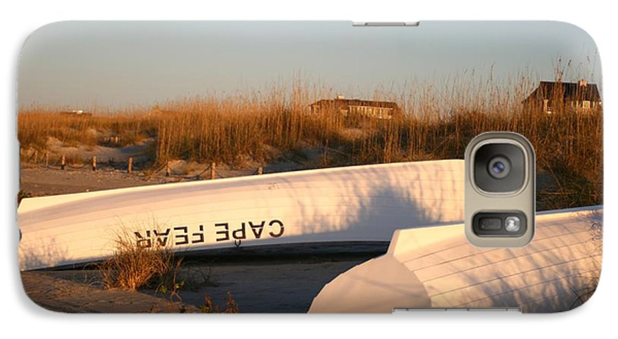 Boats Galaxy S7 Case featuring the photograph Cape Fear Boats by Nadine Rippelmeyer