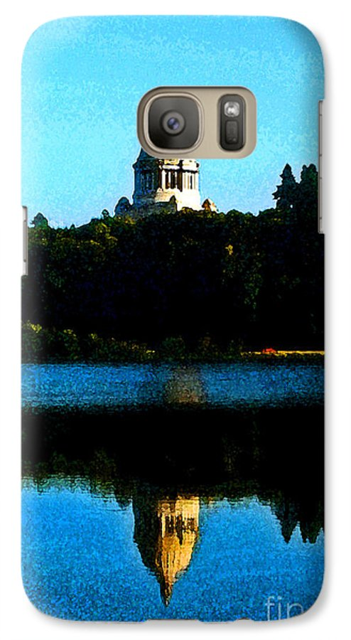 Lake Galaxy S7 Case featuring the photograph Capital Lake by Larry Keahey