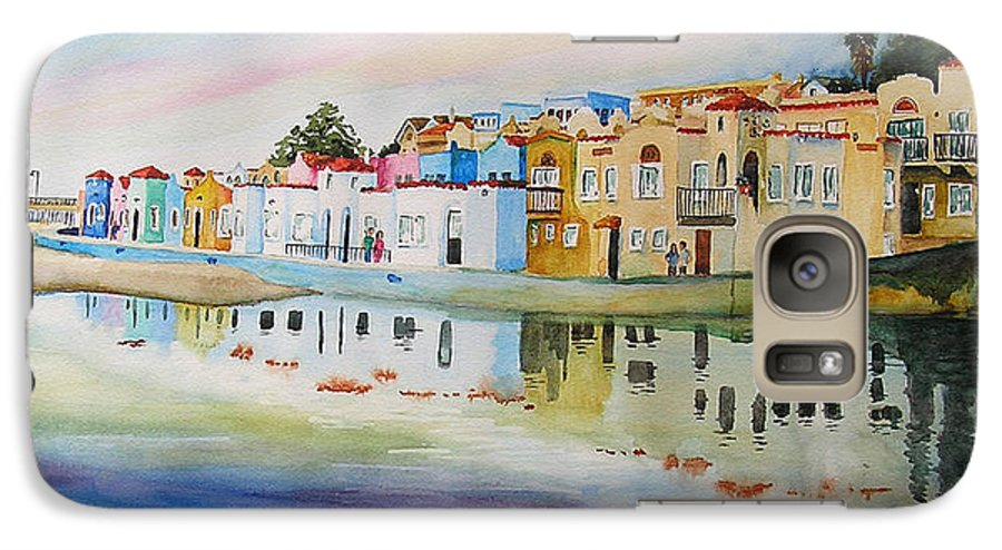 Capitola Galaxy S7 Case featuring the painting Capitola by Karen Stark