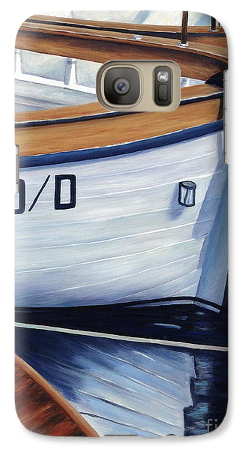 Nautical Galaxy S7 Case featuring the painting Capri Boats by Danielle Perry