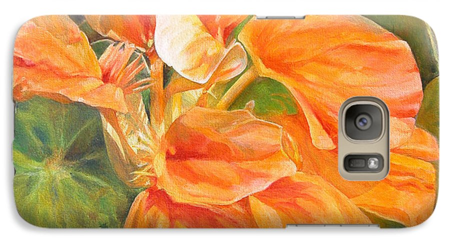 Floral Painting Galaxy S7 Case featuring the painting Capucine by Muriel Dolemieux