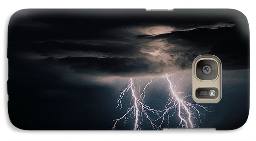 Arizona Galaxy S7 Case featuring the photograph Carefree Lightning by Cathy Franklin