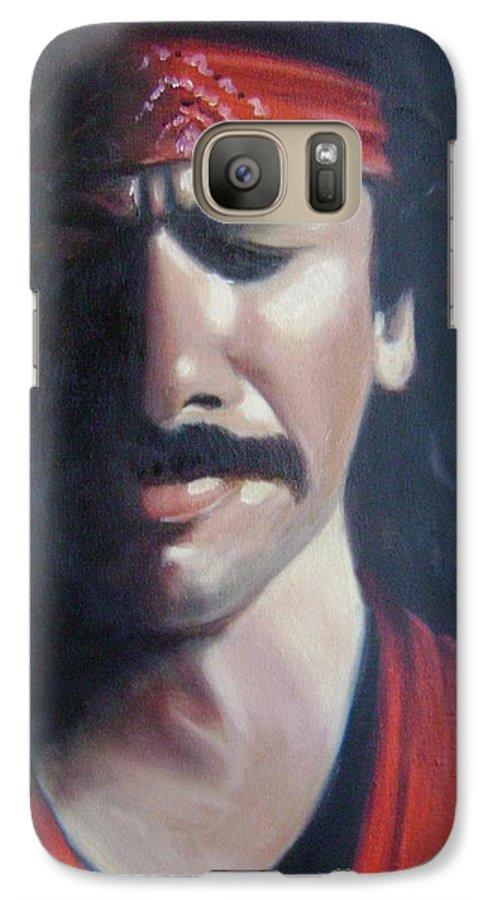 Santana Galaxy S7 Case featuring the painting Carlos Santana by Toni Berry