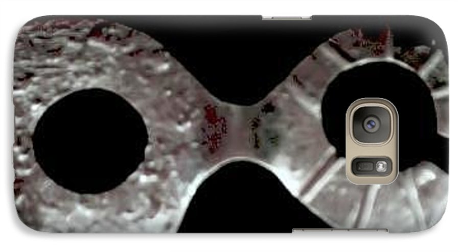 Carnival Type Face Mask For Wearing In .999 Fine Silver Galaxy S7 Case featuring the photograph Carnival 002 by Robert aka Bobby Ray Howle