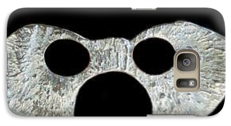 A Wearable Mardi Gras Carnival Or Costume Mask With A Leather Covered Holding Stick Galaxy S7 Case featuring the photograph Carnival Series by Robert aka Bobby Ray Howle