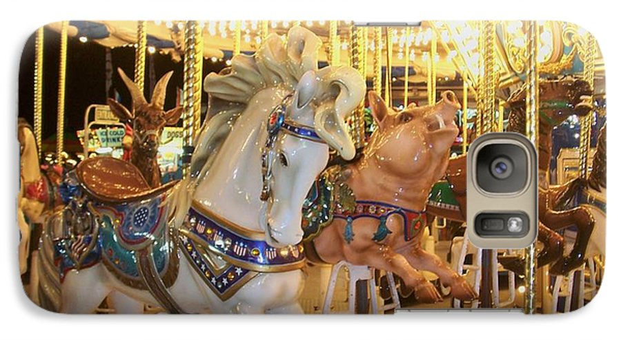 Carosel Horse Galaxy S7 Case featuring the photograph Carousel Horse 2 by Anita Burgermeister