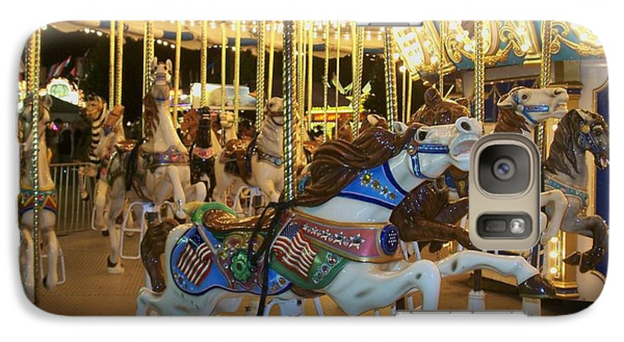 Carousel Horse Galaxy S7 Case featuring the photograph Carousel Horse 3 by Anita Burgermeister